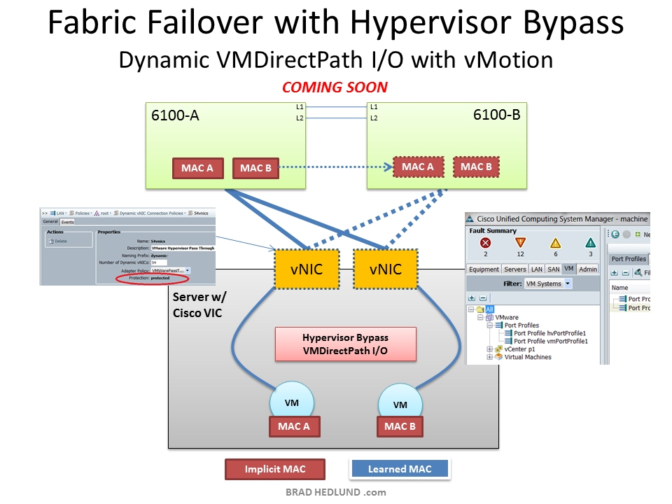 Fabric Failover with Hypervisor Bypass