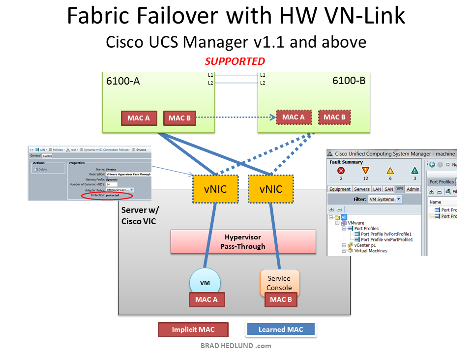 Fabric Failover with Hypervisor Pass through