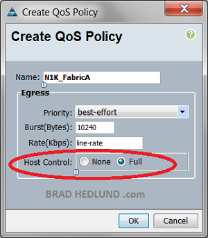 N1K adapter Qos Policy